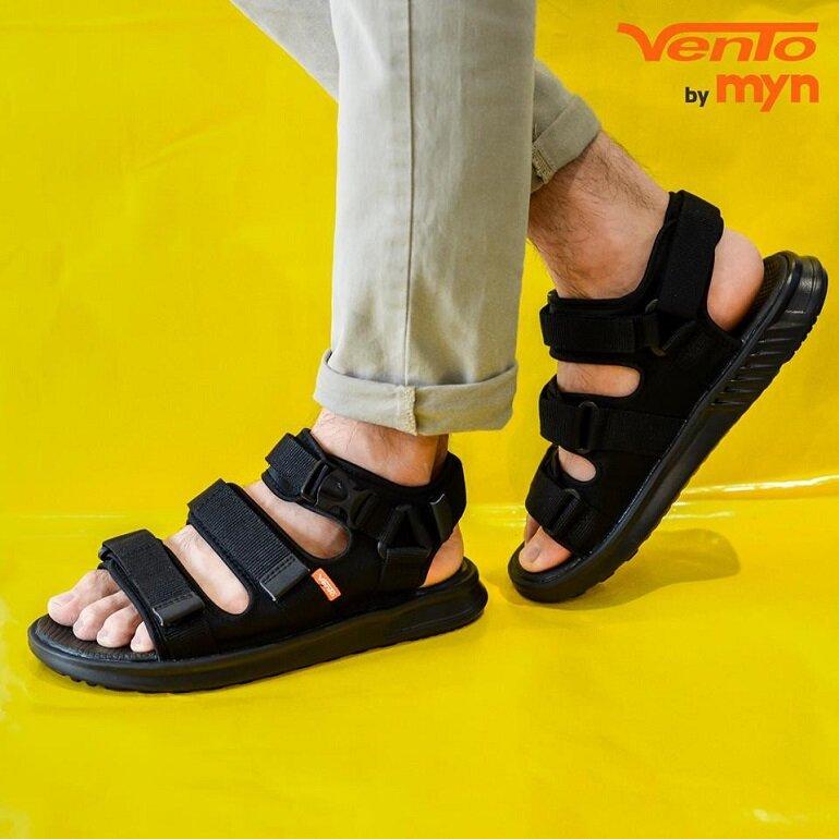 sandal vento màu đen