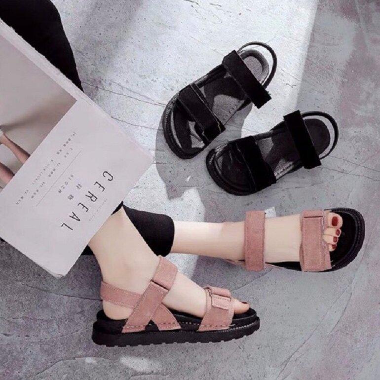 Giày sandal nữ Hàn Quốc quai bản to