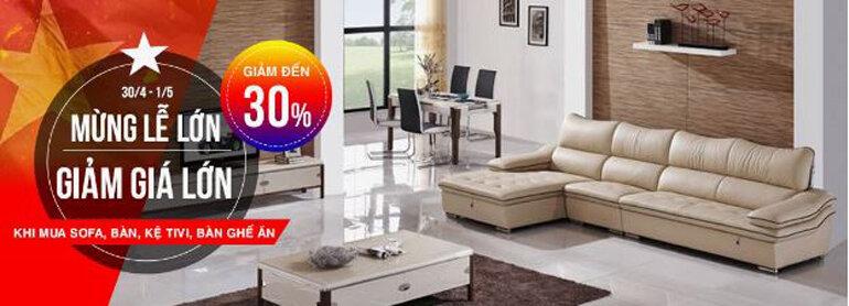 Giảm giá lớn khi mua Sofa, bàn, kệ tivi, bàn ghế ăn tại Anomaxx