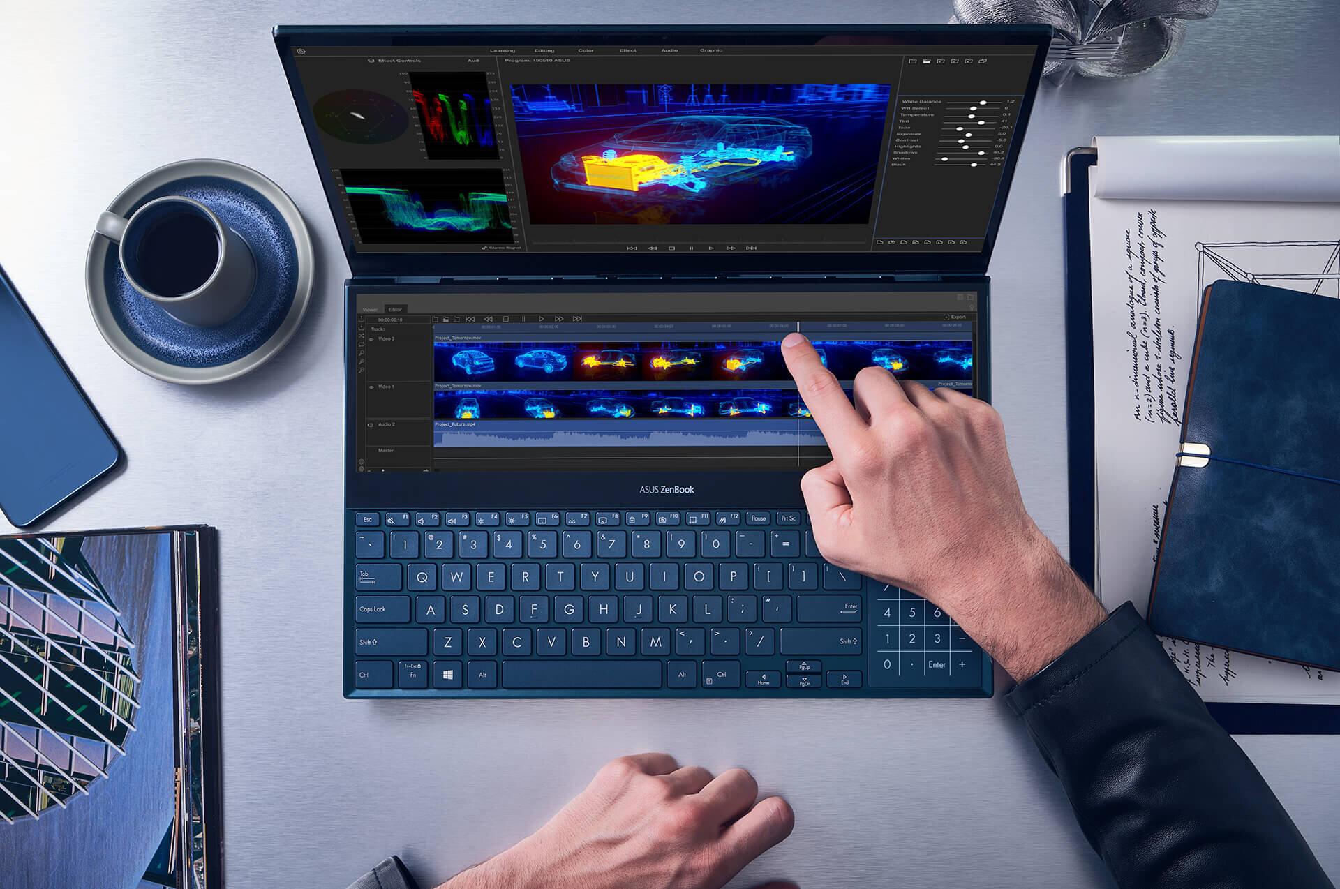 Asus Zenbook Pro Duo là laptop core i9 rất được ưa chuộng