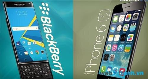 BB Priv chạy hệ điều hành Android, iPhone chạy hệ điều hành iOS