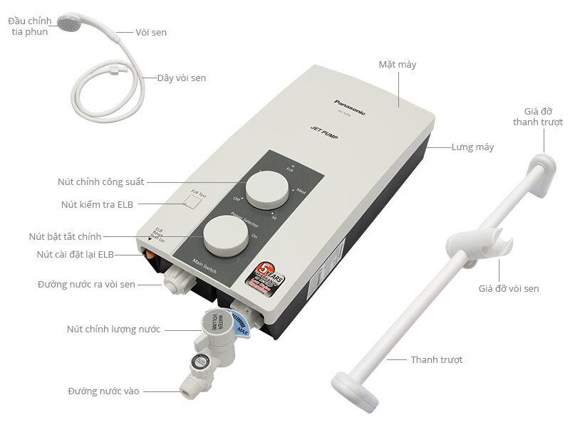 bình nước nóng trực tiếp Panasonic