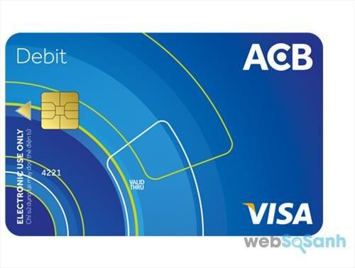 Thẻ Visa Debit ngân hàng ACB - an toàn hàng đầu