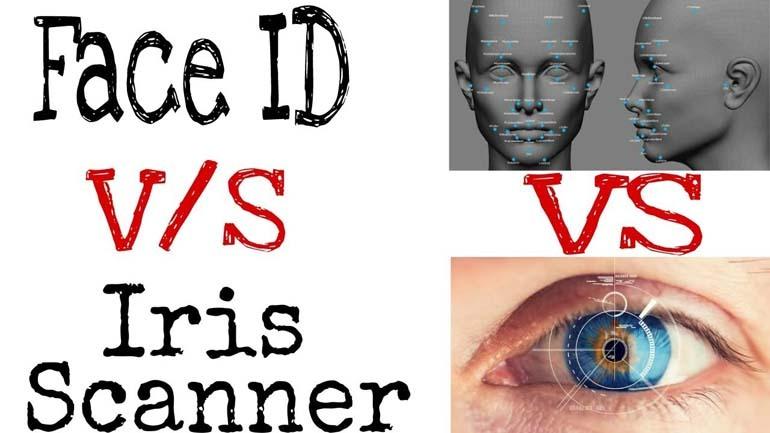 so sánh face id và máy quét mống mắt