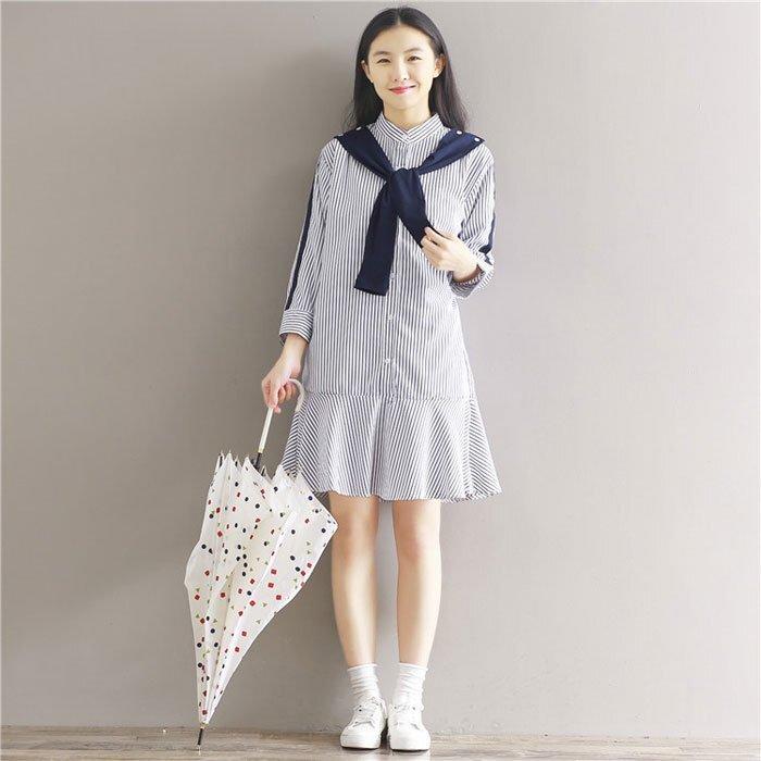 Váy liền thiết kế hạ eo xòe đuôi cá