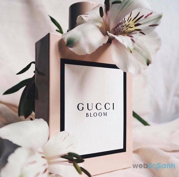 thiết kế đơn giản của nước hoa gucci
