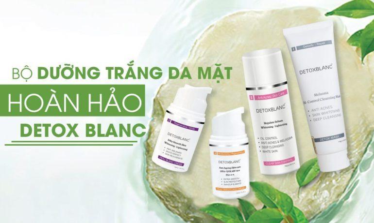 Bộ dưỡng trắng da mặt hoàn hảo chuẩn nước pháp Detox BlanC