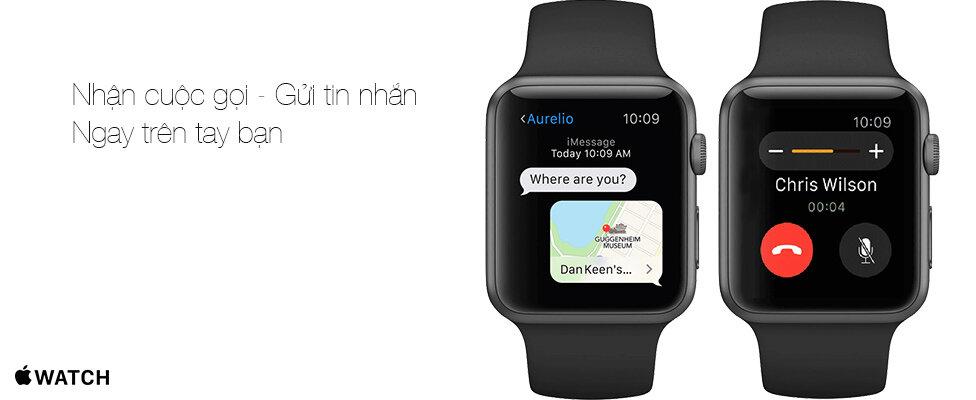 Đồng hồ thông minh Apple Watch nghe gọi nhắn tin