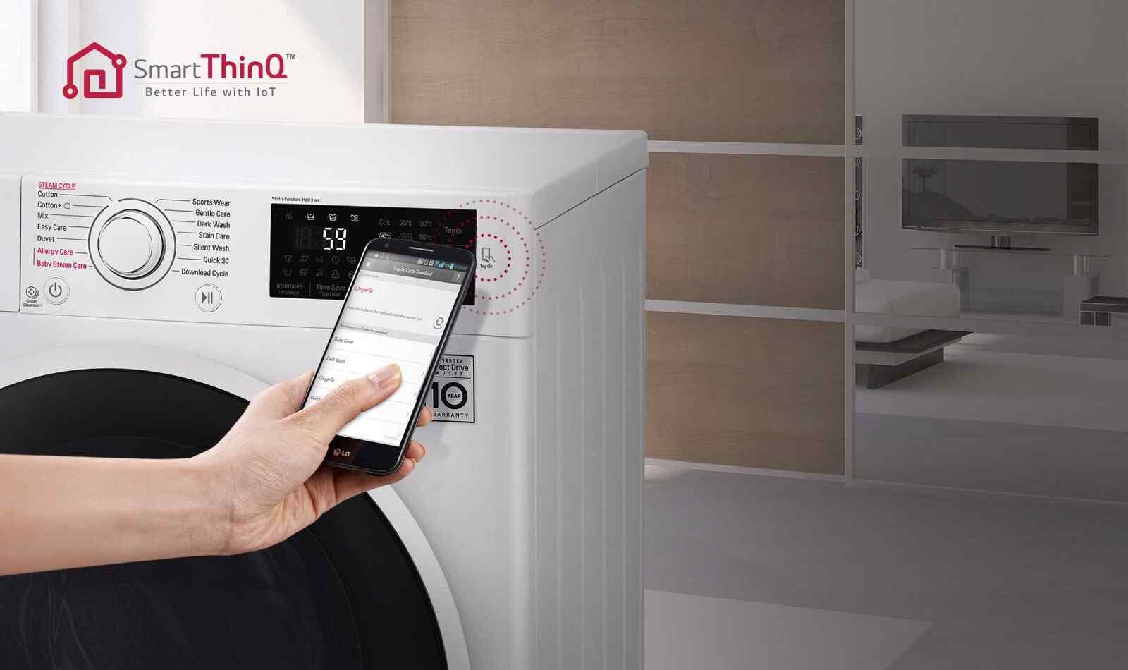 Công nghệ SmartThinQ trên máy giặt sấy LG FC1409D4E