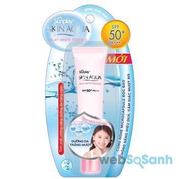 kem chống nắng Sunplay Skin Aqua Silky White Essence SPF50 PA+++