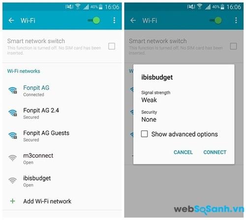 Thậm chí thì hệ thống Android cũng muốn bạn truy cập vào các Wifi miễn phí.