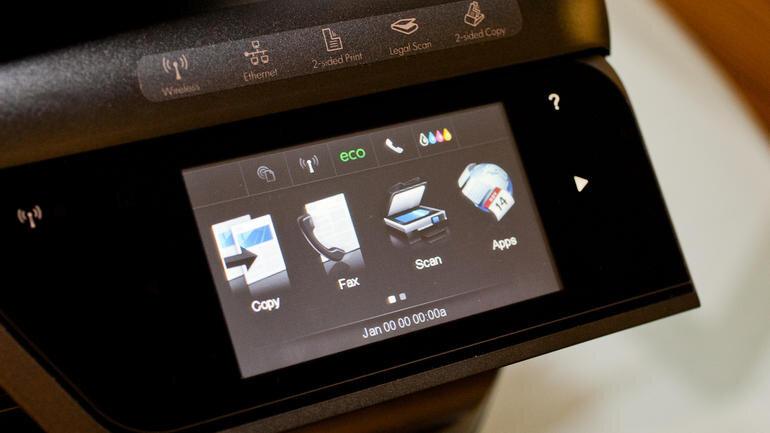 Màn hình hiển thị cảm ứng trên HP Officejet Pro 8600