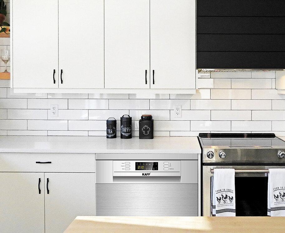Thiết kế máy rửa bát Kaff rất phù hợp với không gian bếp gia đình