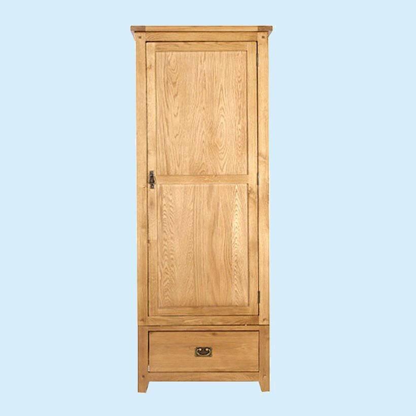 Tủ quần áo Fhome Rustic 1 cánh gỗ sồi 80cm
