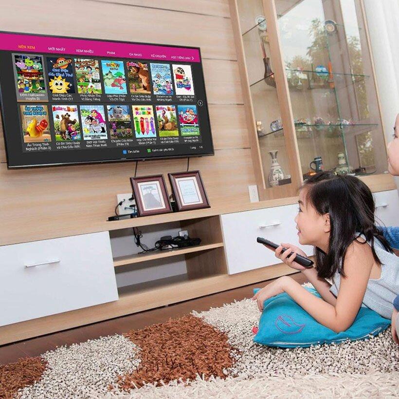 Các bạn nhỏ trong nhà bạn sẽ có nhiều lựa chọn giải trí hơn với tivi thông minh