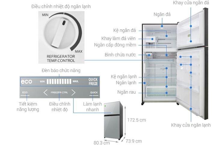 Tủ lạnh Toshiba Inverter 555 lít GR-AG58VA (X)