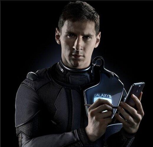 Messi cũng vừa tham gia vào nhóm Galaxy 11 của Samsung.