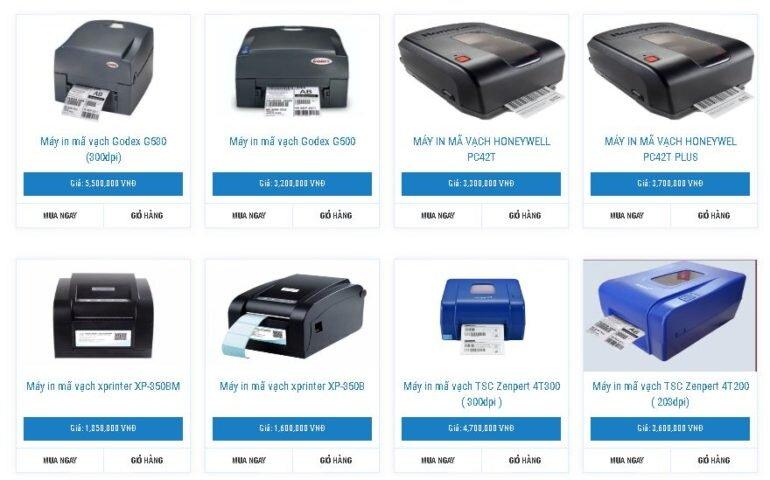 Máy in mã vạch dành cho hộ kinh doanh nhỏ và vừa các thương hiệu:Bixalon, TSC, GODEX, Honeywell