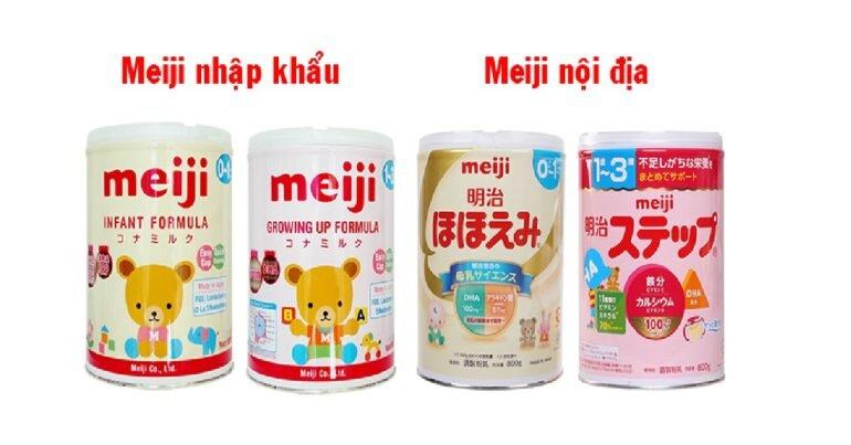 Sữa Meiji nội địa Nhật và nhập khẩu loại nào tốt hơn?