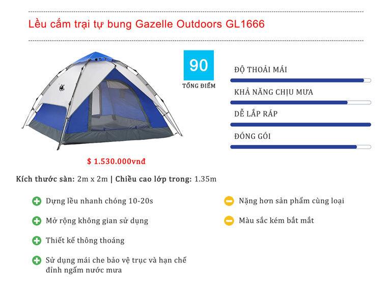 Lều cắm trại tự bung Gazelle Outdoors GL1666