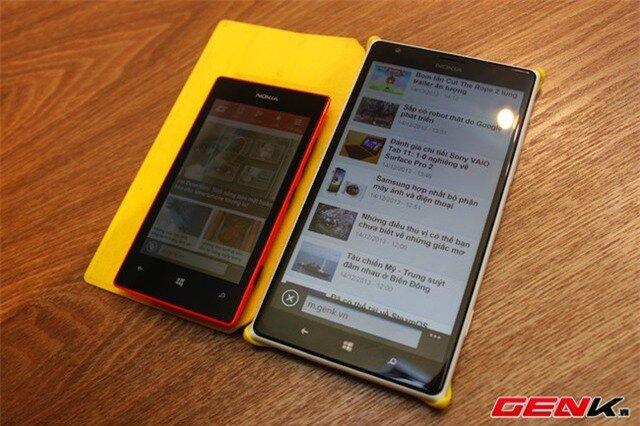 Lumia 525 và 1520.