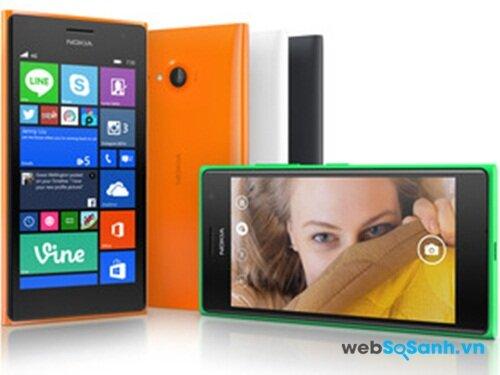 Lumia 735 thiết kế vuông vắn nhưng khá ôm tay