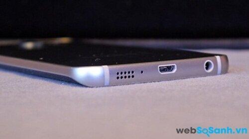 Samsung Galaxy S6 Edge không có khe thẻ nhớ micro SD
