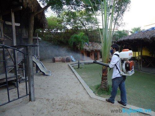 Diệt muỗi bằng cách phun thuốc (nguồn: internet)