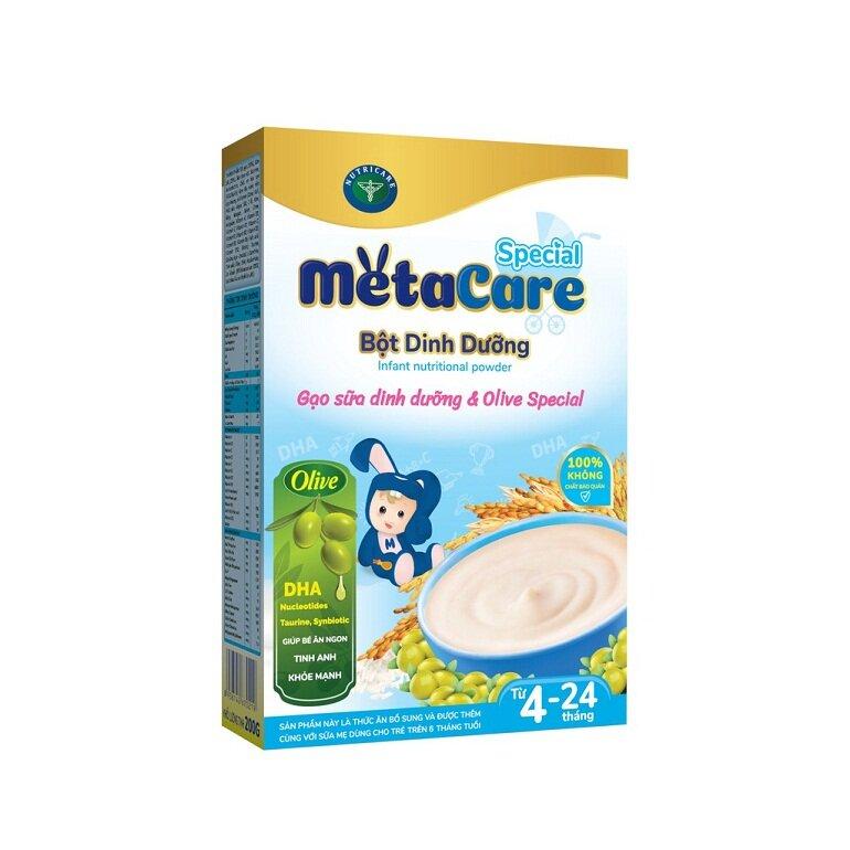 Bột ăn dặm Metacare là sản phẩm nội địa thuộc Nutricare