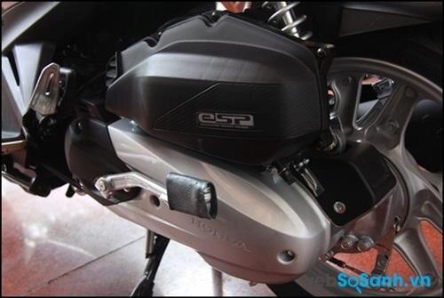 Động cơ phun xăng điện tử của Honda Air Blade cho xe có khả năng tiết kiệm xăng khá tốt