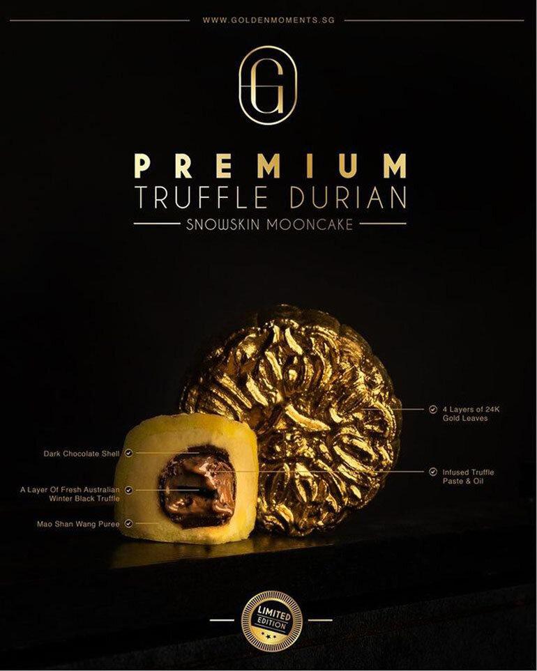 bánh trung thu dát vàng