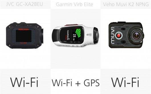 Action camera wireless comparison (row 3)