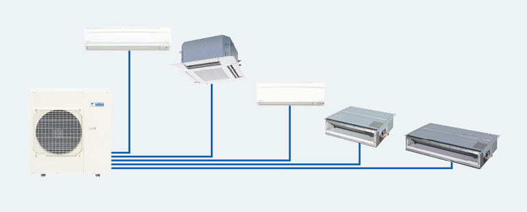 Điều hòa Multi Daikin 2 chiều Inventer 5MXM100RVMV