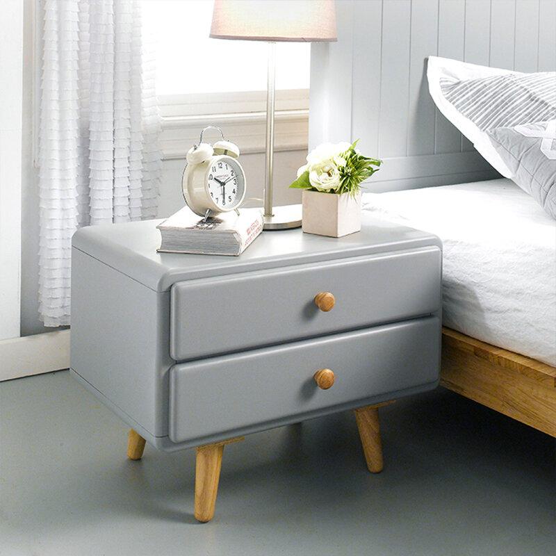 Tủ đầu giường 2 ngăn kéo gỗ sồi IBIE Shay
