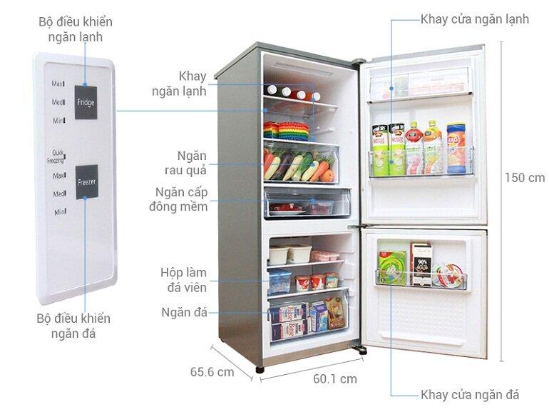 Cấu tạo của tủ lạnh Panasonic Inverter