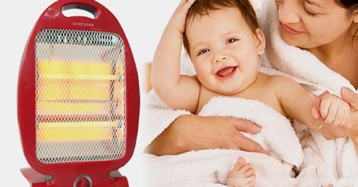 5 lưu ý quan trọng mẹ cần nhớ khi dùng đèn sưởi hồng ngoại cho bé