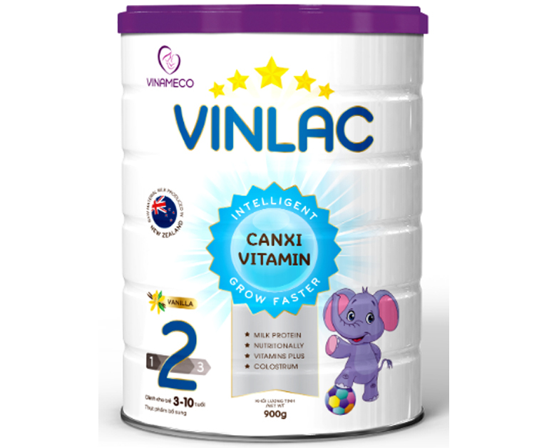 Sữa Vinlac 2 - sản phẩm dinh dưỡng cho bé từ 3 - 10 tuổi