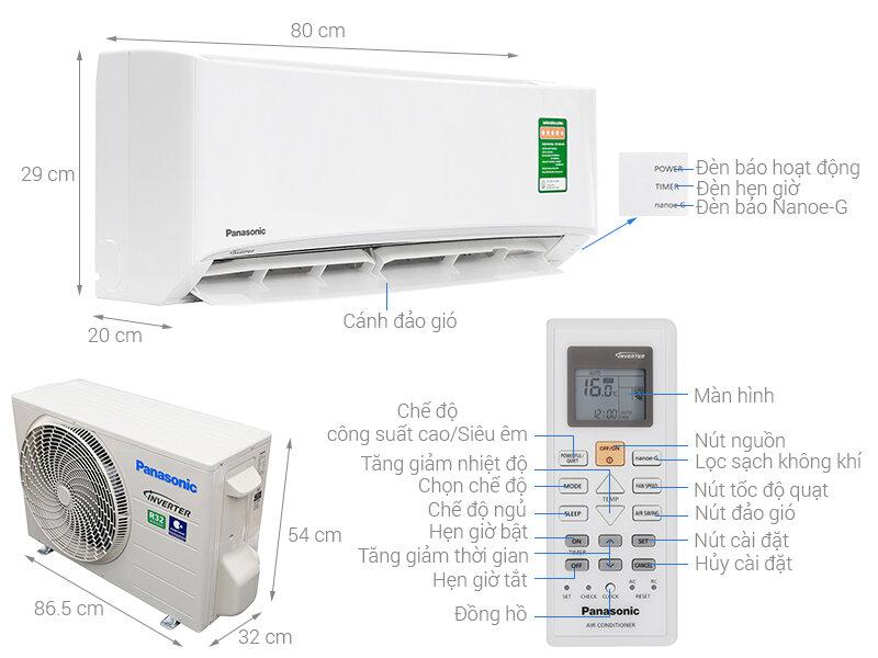 Máy lạnh Panasonic CU/CS-PU12UKH-8