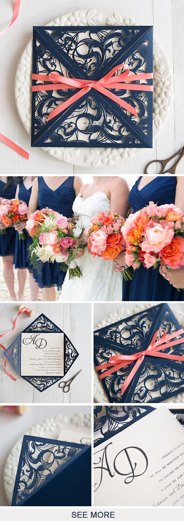 Sự kết hợp giữa tone màu xanh navy và hồng trông rất tươi sáng và rực rỡ