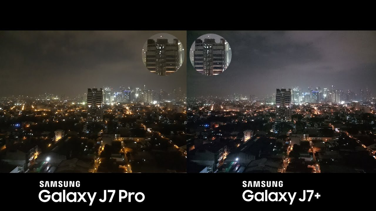 So sánh camera J7 Pro và J7 Plus
