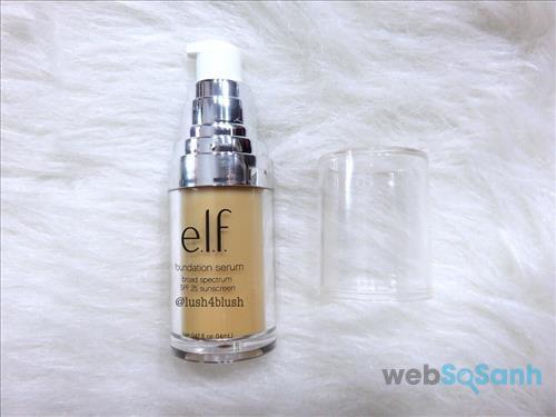 Nếu bạn có làn da khô thì có thể lựa chọn E.l.f. Cosmetics Beautifully Bare Foundation Serum, chất lượng ổn mà giá bình dân