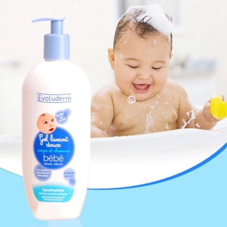 Sữa tắm cho bé của Pháp Evoluderm - Giá tham khảo: 109.000 vnđ - 175.000 vnđ/ chai 500ml