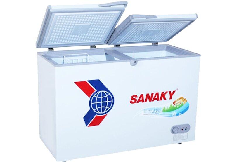Tủ đông Sanaky vh4099w3 với dung tích 280 lít bảo quản được nhiều thực phẩm