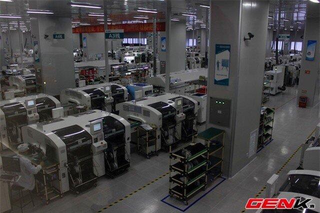 Mỗi dây chuyền trong hệ thống này gồm ba máy với trị giá vào khoảng 1,7 triệu USD. Khu vực này hiện có tất cả 48 dây chuyền tự động.