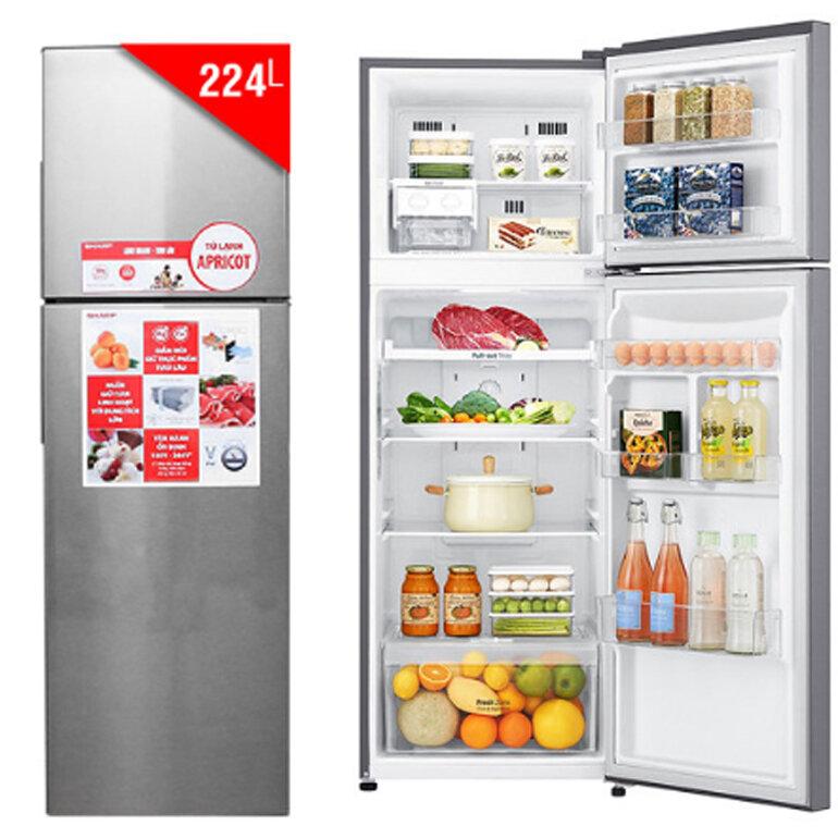 Tủ Lạnh Inverter Sharp SJ-X251E-SL (224L)
