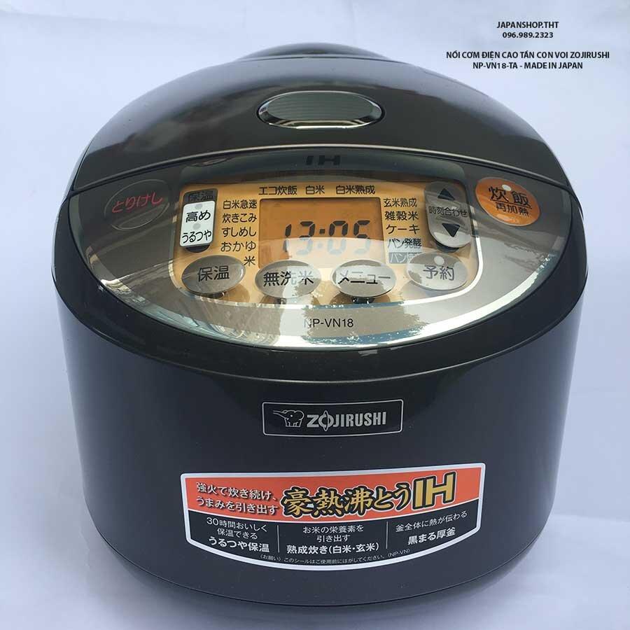 Chức năng của nồi cơm điện Zojirushi mẫu NP-VN18-TA