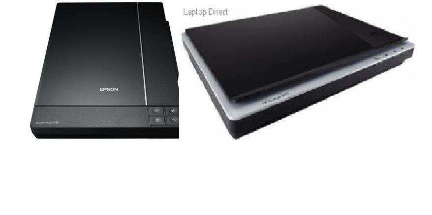 Scan HP Scanjet 200 Flatbed L2734A vs Scan Epson PER V33 (bên trái).