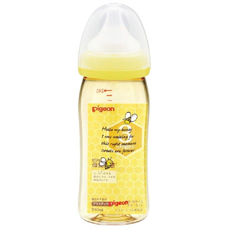 Bình sữa Pigeon nội địa Nhật cổ rộng 240ml nhựa PPSU