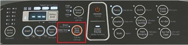 Chức năng Activ Dualwash trên máy giặt có khay giặt tay Samsung