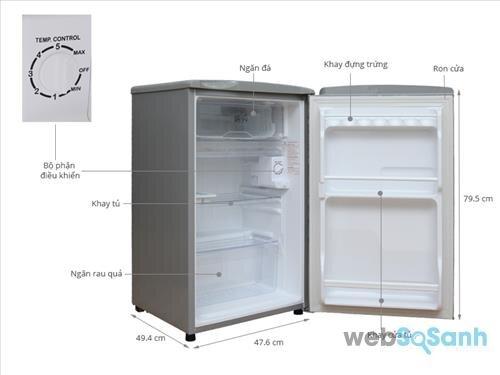 tủ lạnh sanyo mini 90l